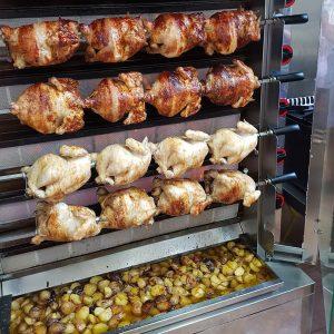 pollo y patatas asadas a tavola